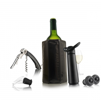 Pack de Vino VACUVIN Essentials - Negro
