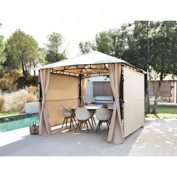 Parasoles y veladores para terraza y jard n for Carpas jardin carrefour