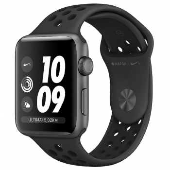 Apple Watch Nike+ Series 3 GPS 38mm de Aluminio Gris Espacial y Correa Nike Sport Antracita/Negra