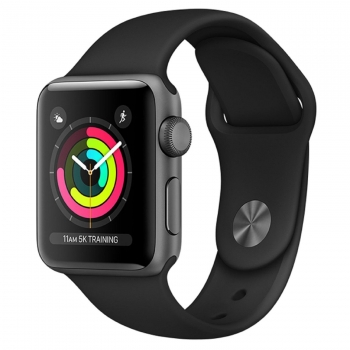Apple Watch Series 3 GPS 38mm de Aluminio Gris Espacial y Correa Deportiva Negra