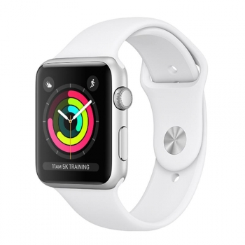 Apple Watch Series 3 GPS 42mm de Aluminio Plata y Correa Deportiva Blanca