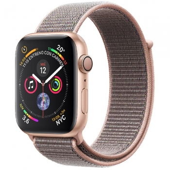 Apple Watch Series 4 GPS 40mm de Aluminio Oro y Correa Loop Deportiva Rosa Arena