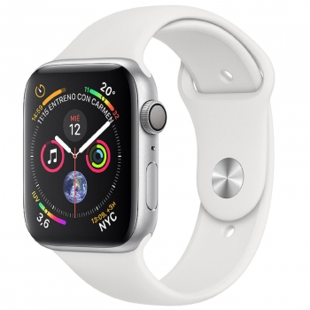 Apple Watch Series 4 GPS 40mm de Aluminio Plata y Correa Deportiva Blanca