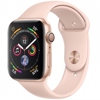 Apple Watch Series 4 GPS 40mm de Aluminio Oro y Correa Deportiva Rosa Arena