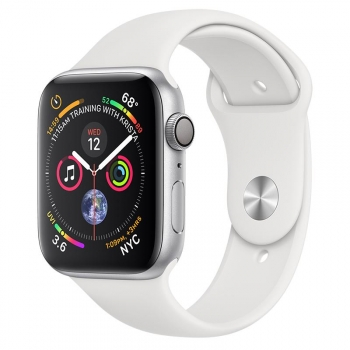 Apple Watch Series 4 GPS 44mm de Aluminio Plata y Correa Deportiva Blanca