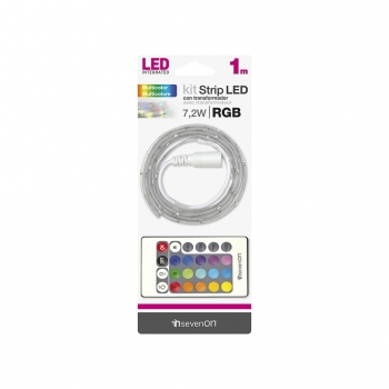Kit Tira LED 1m Colores Rgb/Mango y Transform. Recortable y Enlazable 7hSevenOn BL.1