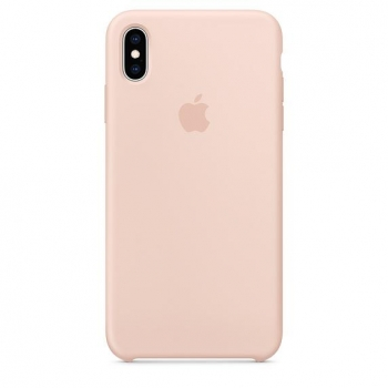 Funda Apple Silicone Case para iPhone Xs Max - Pink sand