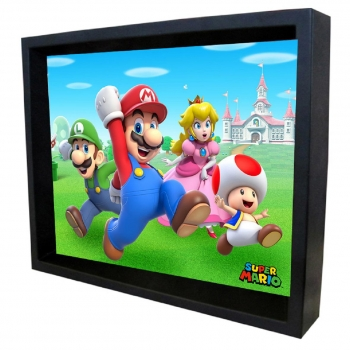 Poster 3D Group Run Super Mario