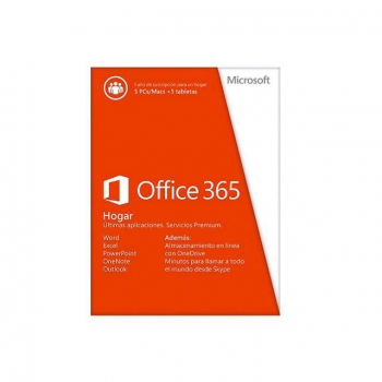 Software Ofimática Microsoft Office Hogar 365