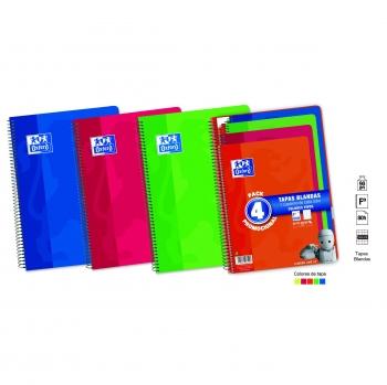772262d767 Pack de 4 Cuadernos Folio de 80 Hojas Oxford