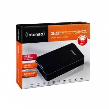 "Disco Duro Externo Intenso Memory Center 3,5"" 2TB - Negro"