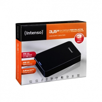 "Disco Duro Externo Intenso Memory Center 3,5"" 3TB - Negro"