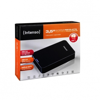 "Disco Duro Externo Intenso Memory Center 3,5"" 4TB - Negro"