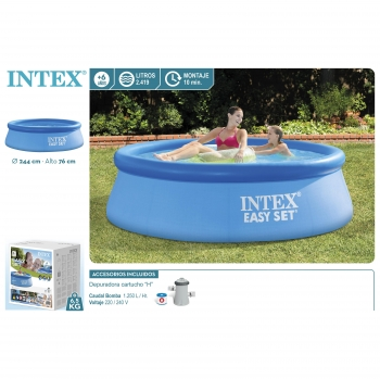 Piscina Easy Set Redonda Ø244x76 cm