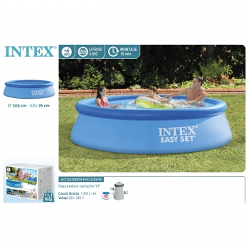 Piscina Easy Set Redonda Ø305x76 cm