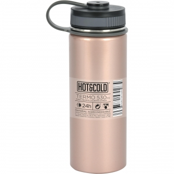Termo de Acero Inoxidable Hot & Cold 530ml - Rosa