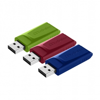 Memoria Usb Verbatim 2.0 Slider 3 Pack 16GB