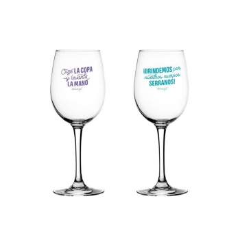Set de 2 Copas de Vino para Brindar por Nuestra Amistad Mr. Wonderful