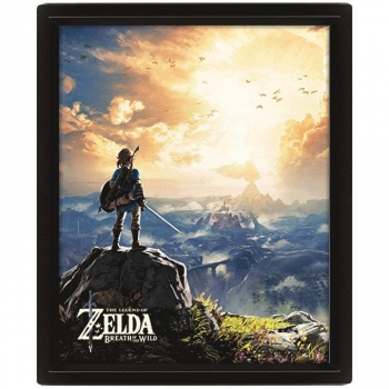 Poster 3D Sunset The Legend of Zelda