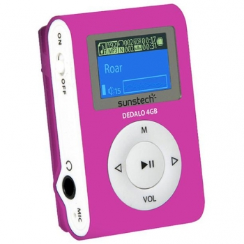 Reproductor MP3 Sunstech 4GB Dedalo III - Rosa