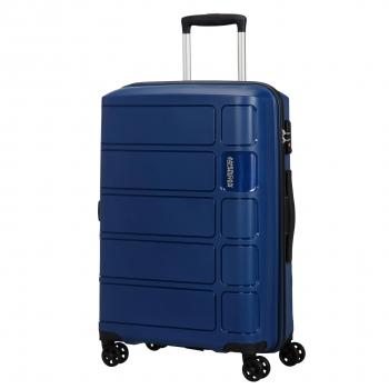 713f7970b Trolley Splash 77 Cm Grande con Doble Rueda Cerradura TSA Azul Oscuro