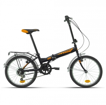 "Folding Park 20"" Plegable - Negra/Naranja"