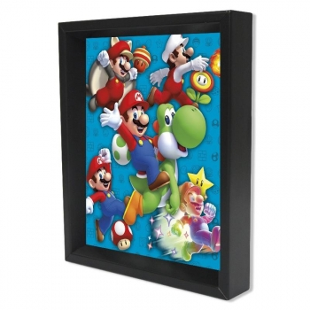 Poster 3D Power Up Super Mario Bros