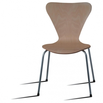 Silla Danesa Apilable CARREFOUR HOME - Natural
