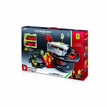 Tavitoys - Garaje Parking 1 :43 Ferrari  Race&Play (Incluye 2 Coches)
