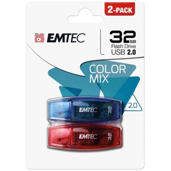 Memoria Usb Emtec C410 32Gb 2.0 Pack 2