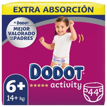 13113f34d6f1 Pañales Dodot Activity Extra Talla 6 +16 kg 44 uds