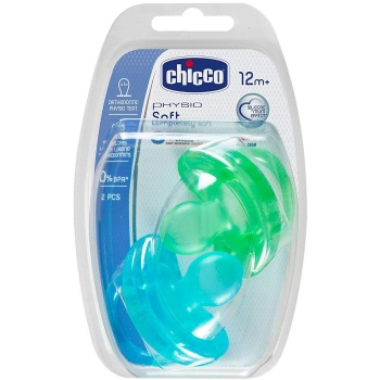 Pack de dos Chupetes de Silicona Physio Soft +16m Chicco