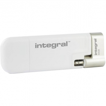 Memoria Usb Integral Lightning Ishuttle 64GB - Blanco