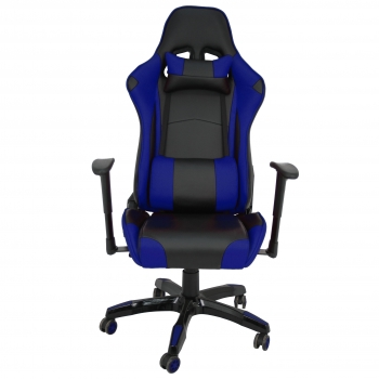 Silla Giratoria Piel FURNITURE STYLE Gaming Regina - Azul