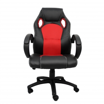 Silla Giratoria Textil FURNITURE STYLE Gaming Olimpia - Rojo