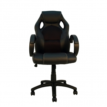Silla Giratoria Textil FURNITURE STYLE Gaming Olimpia - Negro