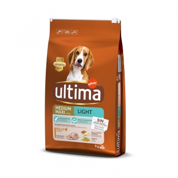 Ultima Pienso para Perro Adulto Medium - Maxi Sabor pollo y arroz  7kg.