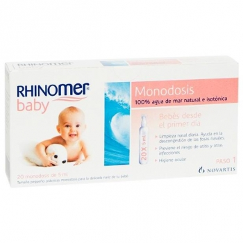 Agua de Mar Rhinomer 20 Monodosis 5 ml