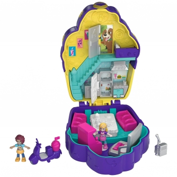 Polly Pocket - Muñeca con Mini Cofre, Cupcake Sorpresa