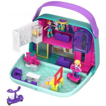 Polly Pocket - Cofre de Muñecas, Bolso Shopping