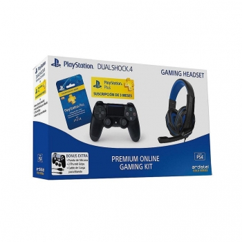 Pack DS4+PSN Plus+Headset+Starter Kit para PS4
