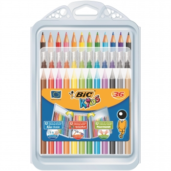 Pack Mixto Colorear Bic Kids 12+12+12 uds