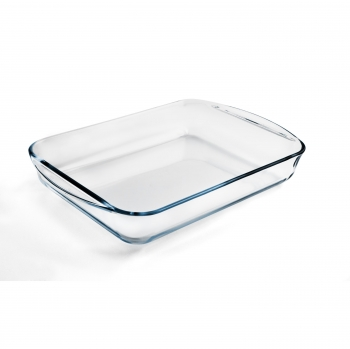 Fuente Rectangular CARREFOUR HOME 35X22 cm - Transparente