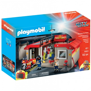 PLAYMOBIL City Action - Cuartel de Bomberos Maletín