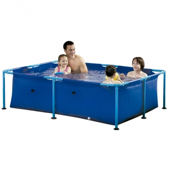Piscina Tubular Rectangular 152x213x61 cm - Metal frame pool