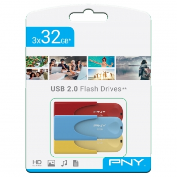 Pack USB 3x32GB PNY Edición Limitada