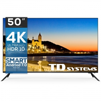 TV LED 127 cm (50'') TD Systems K50DLX9US, 4K UHD, Smart TV