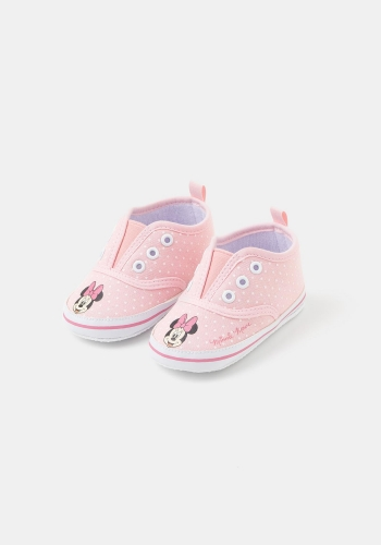 Zapatillas de lona topitos para Bebé Minnie de DISNEY (Tallas 16 a 20)