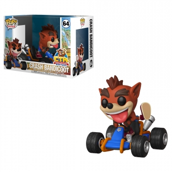 Figura Funko Pop! rides: ctr-crash bandicoot