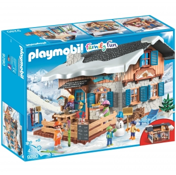 PLAYMOBIL Family Fun - Cabaña de Esquí